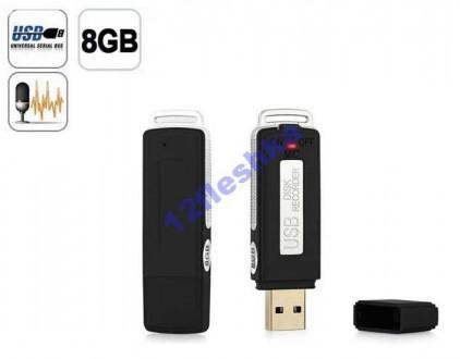 Акционный Цифровой Диктофон + USB флешка 8GB Время+дата. Киев. фото 1