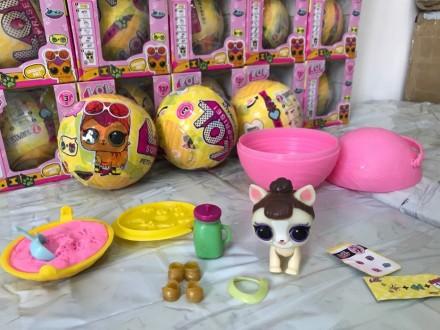 Игрушка Лол питомцы Lol Pets с кинетическим песком 3 серия. Одесса. фото 1