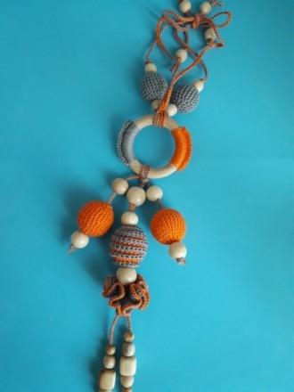 Подвеска для коляски ,полезная игрушка, грызунок для малыша. Покровск (Красноармейск). фото 1