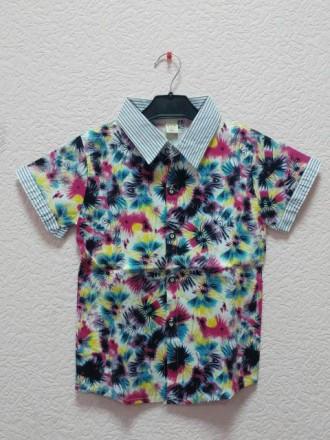 Нарядная Летняя рубашка на мальчика стрейч котон 2,3,4,5 лет. Маріуполь. фото 1