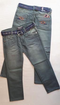 Зеленые котоновые брюки на мальчика 4,5,6,7,8 лет 104-128 рост. Маріуполь. фото 1
