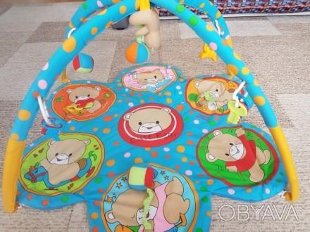 Игровой развивающий коврик Canpol Babies подходит деткам от 1 мес. Оснащен 2 дуг. Киев, Киевская область. фото 1