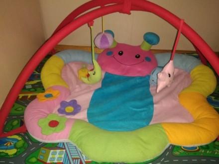 Развивающий коврик с дугами. В комплекте подвесные игрушки, что на фото. Естьигр. Запоріжжя, Запорізька область. фото 2