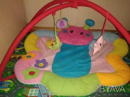 Развивающий коврик с дугами. В комплекте подвесные игрушки, что на фото. Естьигр. Запоріжжя, Запорізька область. фото 1