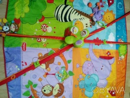 Развивающий коврик tiny love сафари. Очень удобная вещь с первых месяцев для мал. Одеса, Одеська область. фото 1