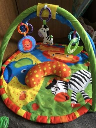 После одного ребёнка. Коврик в хорошем состоянии. Есть подушечка. Игрушки можно . Полтава, Полтавська область. фото 2