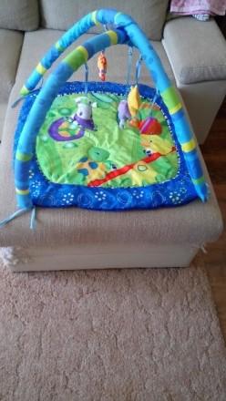 Продам развивающий коврик в отличном состоянии, дуги и игрушки мягкие, для малыш. Славянск, Донецкая область. фото 4