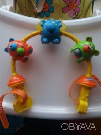 Подвеска для коляски/автокресла Игровой центр При нажатии слону на нос звучат ме. Запорожье, Запорожская область. фото 1