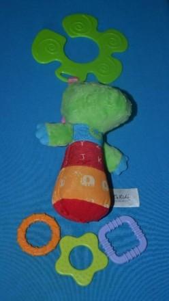 Кроко малыш сделан из мягкой ткани. В теле игрушки находится забавная пищалка, к. Біла Церква, Київська область. фото 3