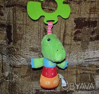 Кроко малыш сделан из мягкой ткани. В теле игрушки находится забавная пищалка, к. Біла Церква, Київська область. фото 1