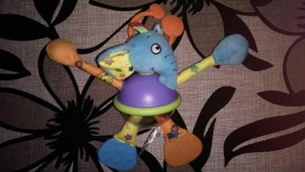 Классная активная игрушка с перетягиваютщимися лапками, в прозрачном животике ша. Каменское, Днепропетровская область. фото 3