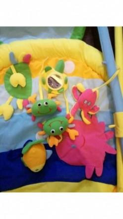 Продам развивающийся коврик Baby Tully Рыбка. На дугах, которыми оснащен коврик,. Кодима, Одеська область. фото 3