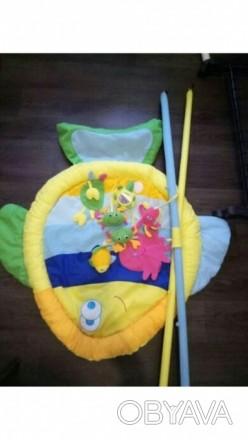 Продам развивающийся коврик Baby Tully Рыбка. На дугах, которыми оснащен коврик,. Кодима, Одеська область. фото 1