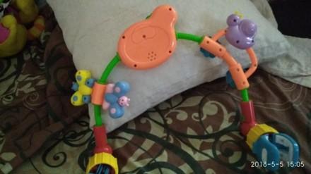 Работает от батареек(уже есть), две мелодии играют нажать на лягушку, лужок свет. Зіньків, Полтавська область. фото 4