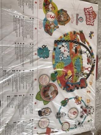 Развивающий коврик для деток от 0 мес:в комплекте дуги для игрушек,коврик,игрушк. Полтава, Полтавська область. фото 1