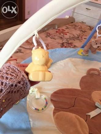 Наш развивающий коврик в отличном состоянии! Модное сочетание цветов желтый и го. Бердянск, Запорожская область. фото 3