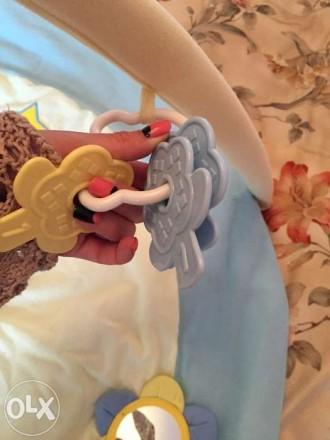 Наш развивающий коврик в отличном состоянии! Модное сочетание цветов желтый и го. Бердянск, Запорожская область. фото 6