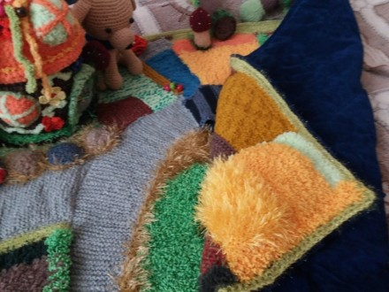 Развивающий вязаный коврик. Киев. фото 1