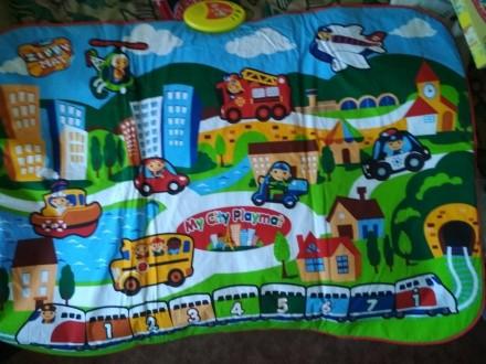 """Коврик """"My City Playmat"""" (Мой город), ткань, экологически чистые материалы, боль. Киев, Киевская область. фото 3"""