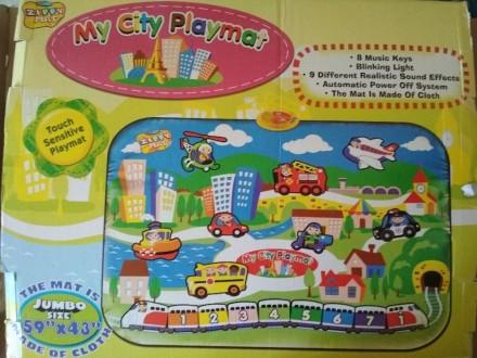 """Коврик """"My City Playmat"""" (Мой город), ткань, экологически чистые материалы, боль. Киев, Киевская область. фото 2"""