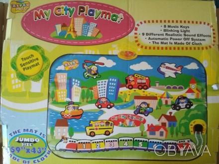 """Коврик """"My City Playmat"""" (Мой город), ткань, экологически чистые материалы, боль. Киев, Киевская область. фото 1"""