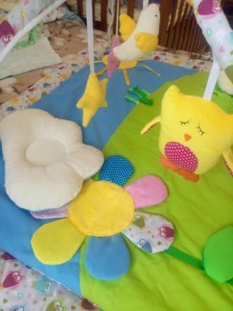 Продам развивающий коврик, новый, не пользовались, покупала на розетке. Развиваю. Киев, Киевская область. фото 5