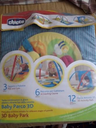 Развивающий коврик Chicco 3D Baby Park. Состояние на 4. 3-6 месяцев: мягкие ковр. Мелитополь, Запорожская область. фото 5
