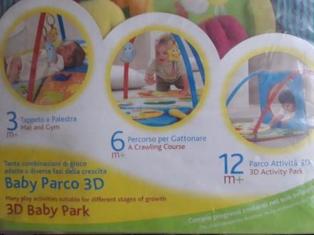 Развивающий коврик Chicco 3D Baby Park. Состояние на 4. 3-6 месяцев: мягкие ковр. Мелитополь, Запорожская область. фото 3