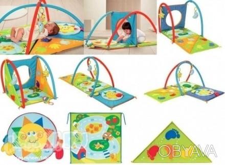 Развивающий коврик Chicco 3D Baby Park. Состояние на 4. 3-6 месяцев: мягкие ковр. Мелитополь, Запорожская область. фото 1