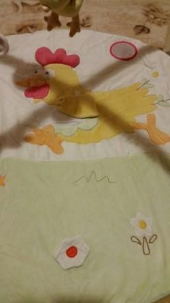 Коврик в нормальном состоянии. Три подвесные съемные игрушки цветочек с пищалкой. Мукачево, Закарпатська область. фото 3
