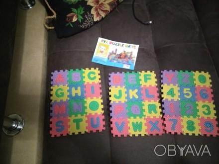 Новый мини детский развивающий коврик, английский алфавит и цифры до 10. Дополни. Чернигов, Черниговская область. фото 1