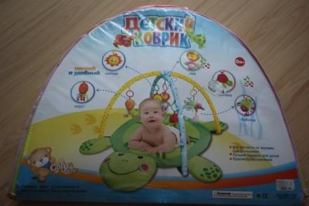 Продам детский развивающий игровой коврик, можно подвесить любые игрушки, лапки . Київ, Київська область. фото 2