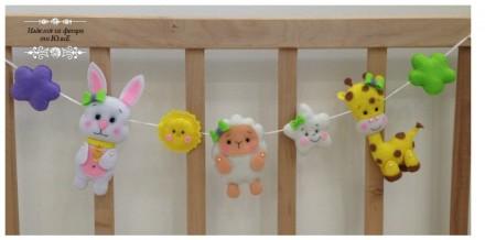 Игрушечки на кроватку/коляску, выполнены из фетра, высота игрушек: 11-13 см. Все. Запорожье, Запорожская область. фото 5