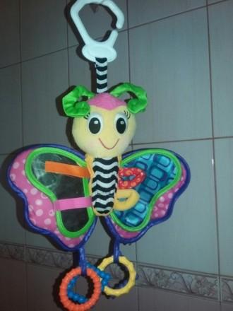 Подвеска Playgro (Плейгро)Бабочка-это мягкая игрушка в виде веселой бабочки, к. Киев, Киевская область. фото 2