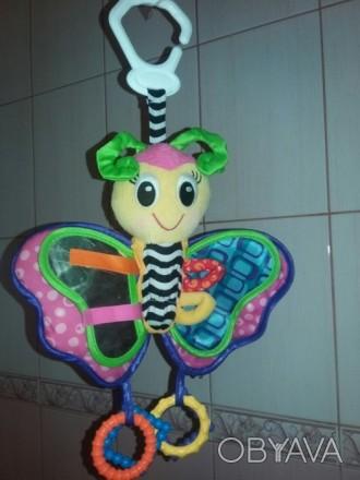 Подвеска Playgro (Плейгро)Бабочка-это мягкая игрушка в виде веселой бабочки, к. Киев, Киевская область. фото 1