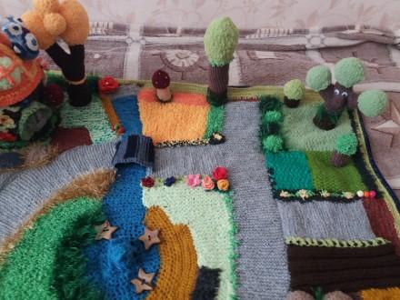 Детский развивающий вязаный коврик. Киев, Киевская область. фото 5