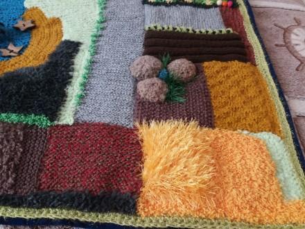 Детский развивающий вязаный коврик. Киев, Киевская область. фото 6
