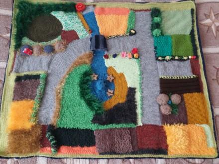 Детский развивающий вязаный коврик. Киев, Киевская область. фото 4