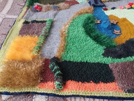 Детский развивающий вязаный коврик. Киев, Киевская область. фото 1