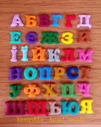 буквы и цифри из фетра. Косов. фото 1