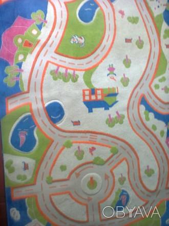 Ковер детский для мальчика, состояние нового. Ковер теплый, дороги для машин вда. Запорожье, Запорожская область. фото 1