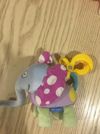 Подвески игрушки в хорошем состоянии! Жираф колокольчик, а слоник и бабочка шурш. Киев, Киевская область. фото 5