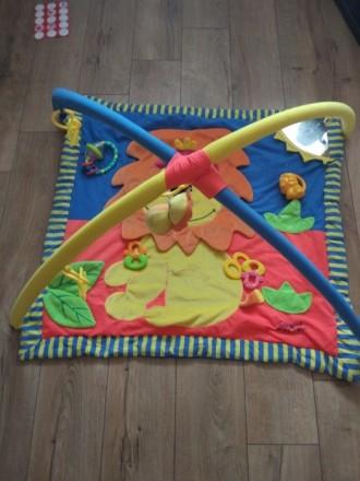 Развивающий коврик тигриный, в хорошем состоянии) на фото это все игрушки к нему. Киев, Киевская область. фото 2
