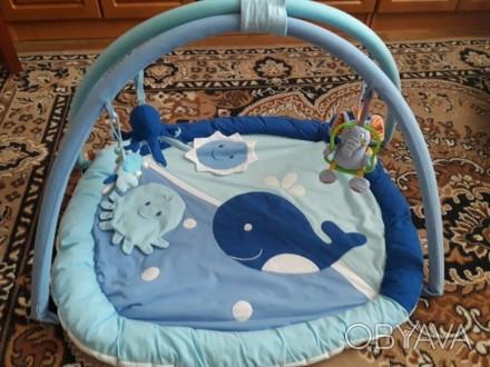 Развивающий коврик с 4 игрушками, можно вешать и свои , ребенку очень нравился.. Полтава, Полтавская область. фото 1