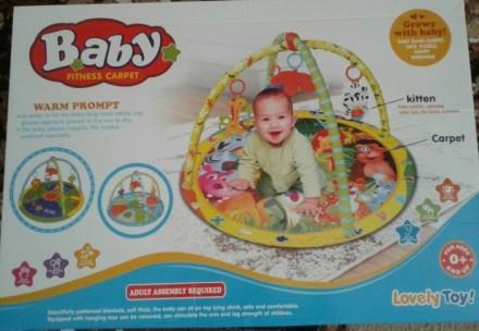Развивающий коврик для ребёнка в хорошем состоянии. Яркий, красивый, легко стара. Синельниково, Днепропетровская область. фото 2