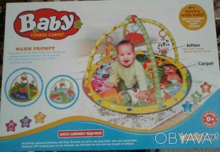 Развивающий коврик для ребёнка в хорошем состоянии. Яркий, красивый, легко стара. Синельниково, Днепропетровская область. фото 1