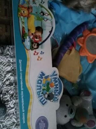 Коврик развивающий от 0+ в отличном состоянии. Нашему малышу нравился. Все игруш. Киев, Киевская область. фото 3