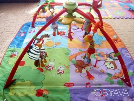 В хорошем состоянии. После одного ребенка. 5шт. цветных игрушек,кольца на дуга. Алчевск, Луганская область. фото 1