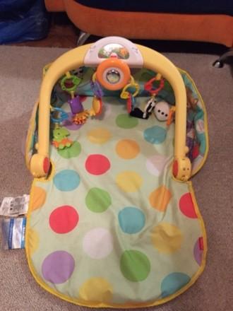 Детский коврик с крутящимся рулём, с подсветкой и музыкой) есть 3 положения ковр. Одеса, Одеська область. фото 3