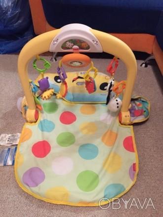 Детский коврик с крутящимся рулём, с подсветкой и музыкой) есть 3 положения ковр. Одеса, Одеська область. фото 1